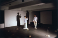 Zorah, 1980, performance with magnetic tape, Lights, type recorders, microphones, actions, Ikon Gallery, Birmingham