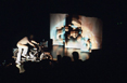 Tomorrow, 1982, Sound performance, motorcycle, microphones, synthesiser, chipboard, Arnolfini Gallery, Bristol