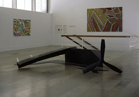 Installation view, 1985, solo exhibition at Museum Folkwang, Essen, Germany
